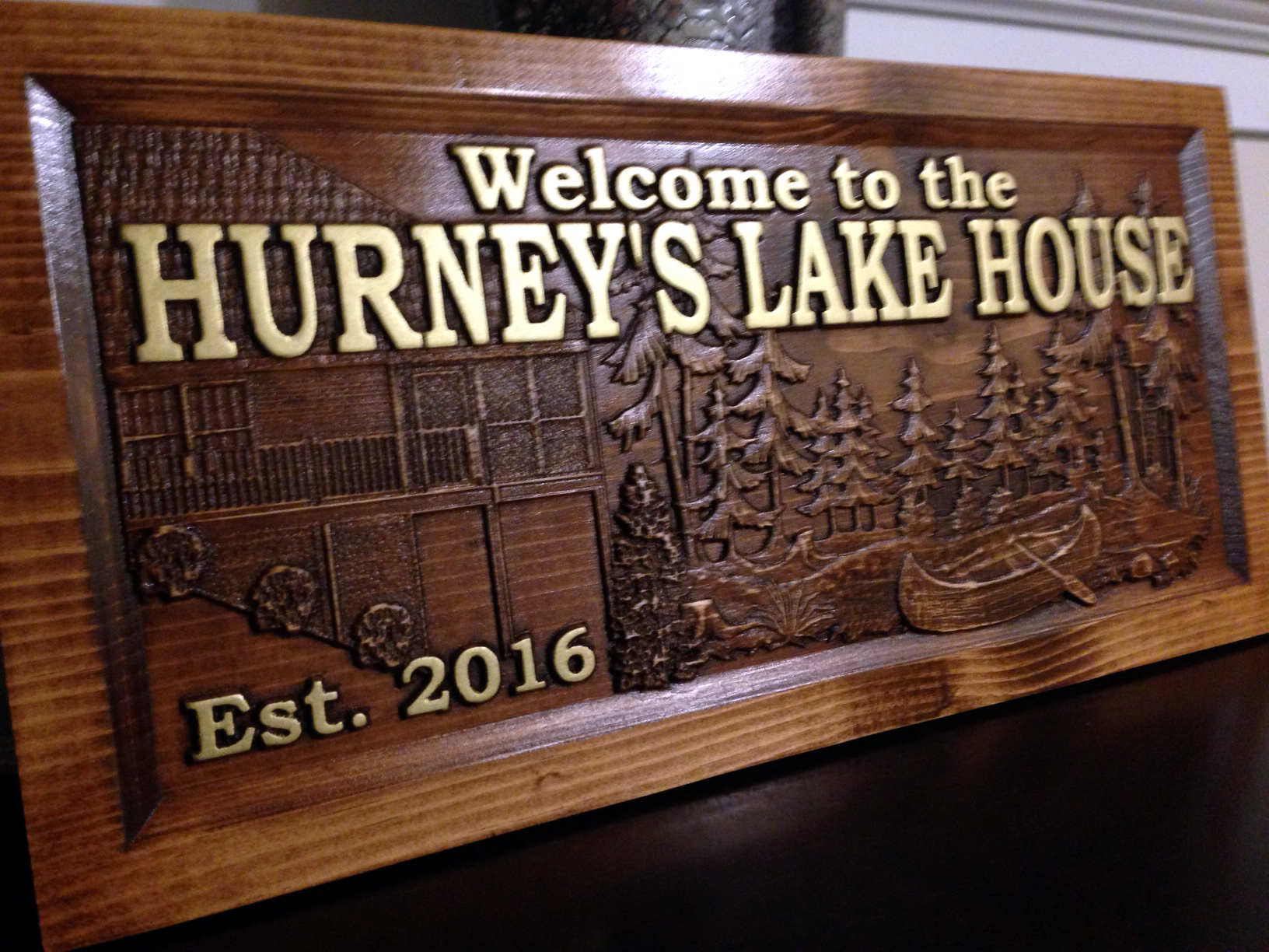 Personalized lake house sign great home