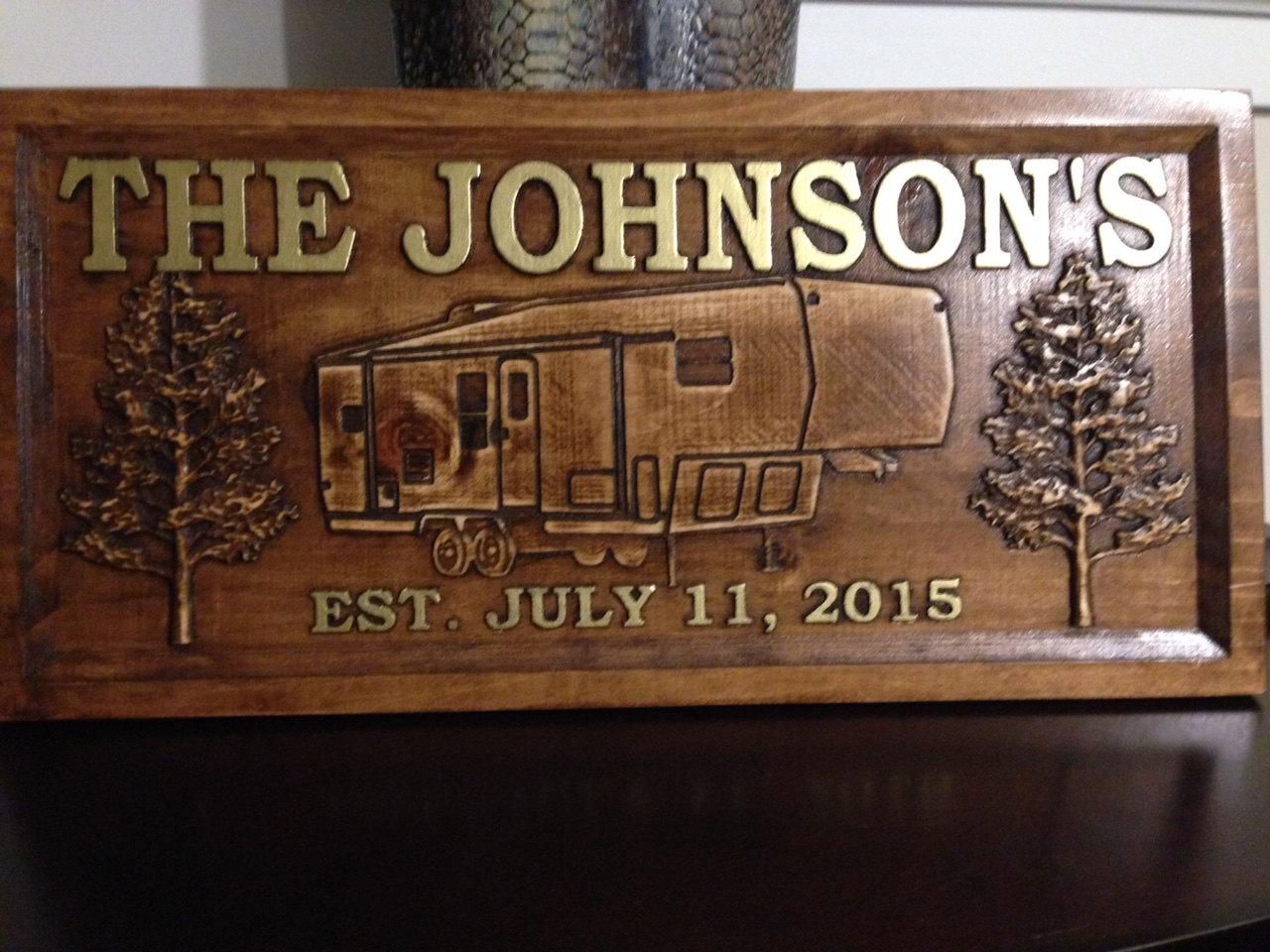 sign camper wood personalized carved signs camping custom outdoor choices pattern camp handmade lake