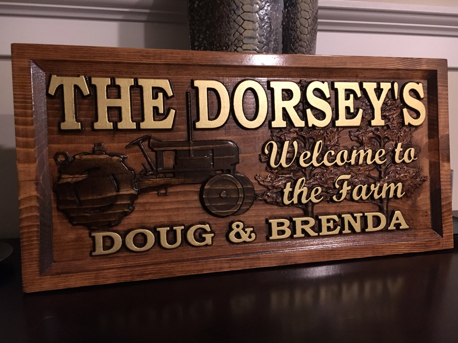 Personalized Wood Carved Farm Sign. Great Farm House Sign ...