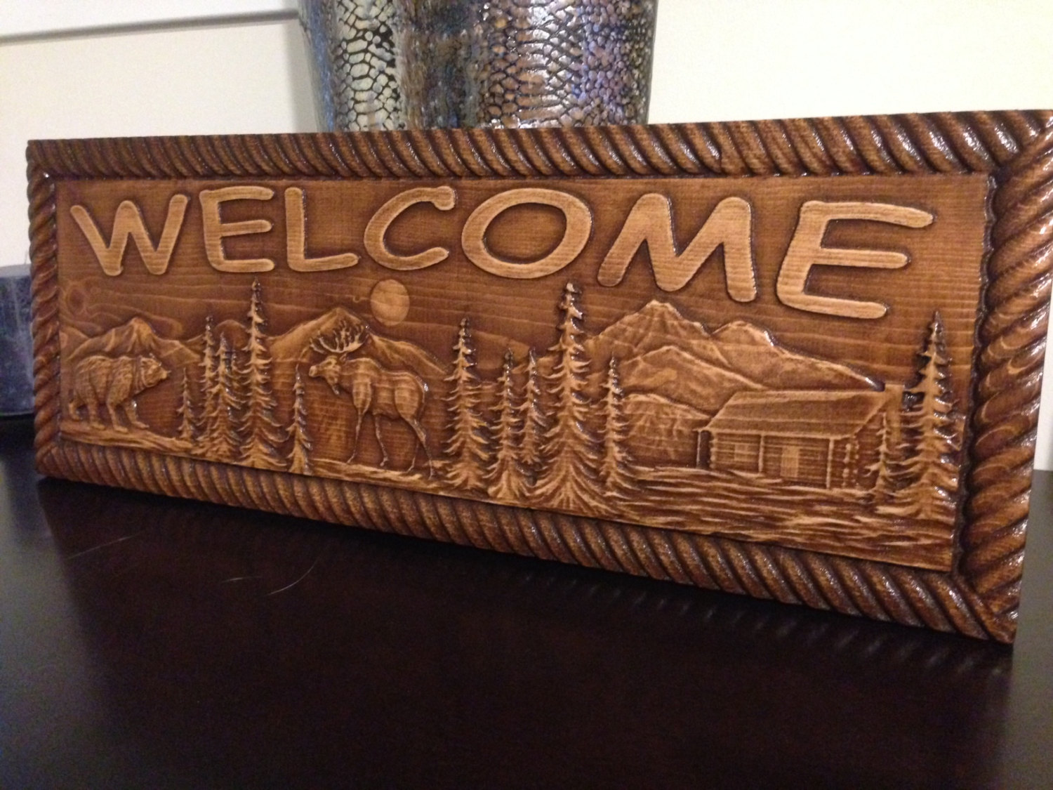 Cabin Signs Aj Wood Products Custom Carved Signs Amp More
